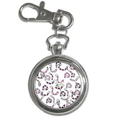 Purple worms Key Chain Watches