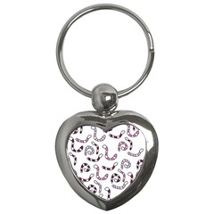 Purple worms Key Chains (Heart)
