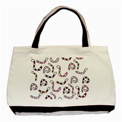 Purple worms Basic Tote Bag