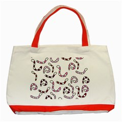 Purple worms Classic Tote Bag (Red)