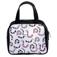 Purple worms Classic Handbags (2 Sides)