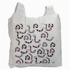 Purple worms Recycle Bag (One Side)