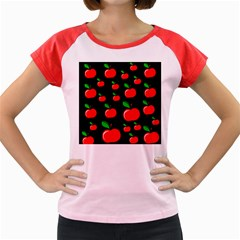 Red apples  Women s Cap Sleeve T-Shirt