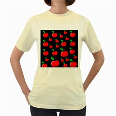 Red apples  Women s Yellow T-Shirt