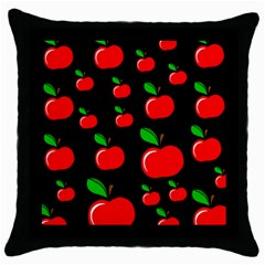 Red apples  Throw Pillow Case (Black)