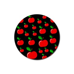 Red apples  Rubber Coaster (Round)