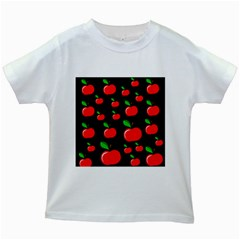 Red apples  Kids White T-Shirts
