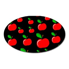 Red Apples  Oval Magnet