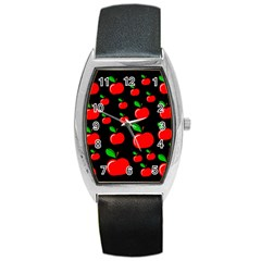 Red apples  Barrel Style Metal Watch