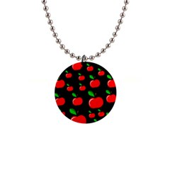 Red apples  Button Necklaces
