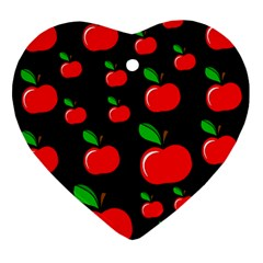 Red apples  Heart Ornament (2 Sides)