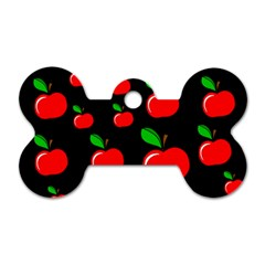 Red apples  Dog Tag Bone (Two Sides)