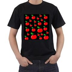 Red apples  Men s T-Shirt (Black)