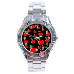 Red apples  Stainless Steel Analogue Watch