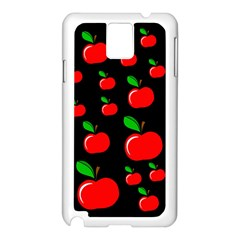 Red apples  Samsung Galaxy Note 3 N9005 Case (White)