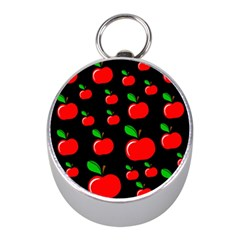 Red apples  Mini Silver Compasses