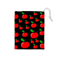 Red apples  Drawstring Pouches (Medium)