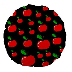 Red apples  Large 18  Premium Flano Round Cushions