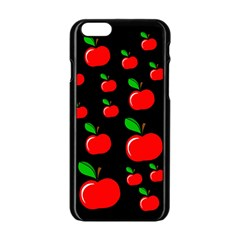 Red apples  Apple iPhone 6/6S Black Enamel Case