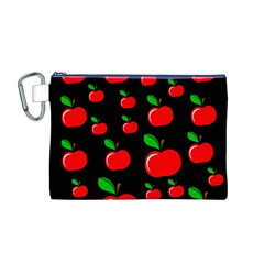 Red apples  Canvas Cosmetic Bag (M)