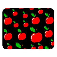 Red apples  Double Sided Flano Blanket (Large)