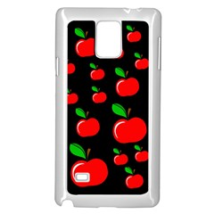 Red apples  Samsung Galaxy Note 4 Case (White)