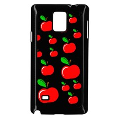 Red apples  Samsung Galaxy Note 4 Case (Black)