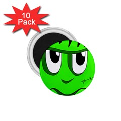Halloween Frankenstein - Green 1.75  Magnets (10 pack)