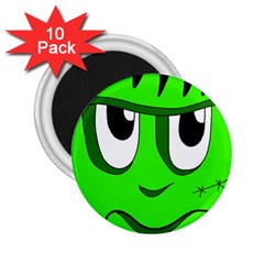 Halloween Frankenstein - Green 2.25  Magnets (10 pack)