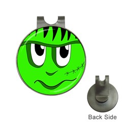 Halloween Frankenstein - Green Hat Clips with Golf Markers