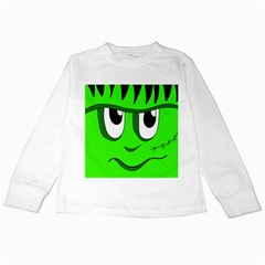 Halloween Frankenstein - Green Kids Long Sleeve T-Shirts