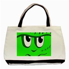 Halloween Frankenstein - Green Basic Tote Bag