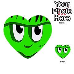 Halloween Frankenstein - Green Multi-purpose Cards (Heart)