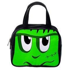 Halloween Frankenstein - Green Classic Handbags (One Side)