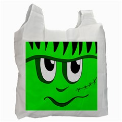 Halloween Frankenstein - Green Recycle Bag (One Side)