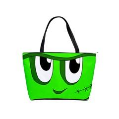 Halloween Frankenstein - Green Shoulder Handbags