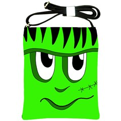 Halloween Frankenstein - Green Shoulder Sling Bags