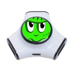 Halloween Frankenstein - Green 3-Port USB Hub
