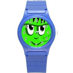 Halloween Frankenstein - Green Round Plastic Sport Watch (S)