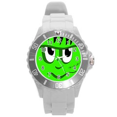 Halloween Frankenstein - Green Round Plastic Sport Watch (L)