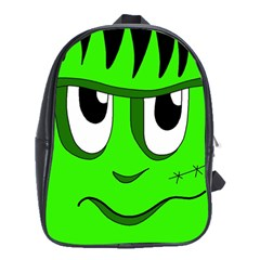 Halloween Frankenstein - Green School Bags (XL)
