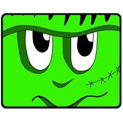 Halloween Frankenstein - Green Double Sided Fleece Blanket (Medium)