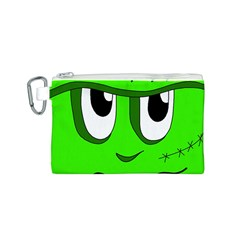 Halloween Frankenstein - Green Canvas Cosmetic Bag (S)