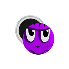 Halloween - purple Frankenstein 1.75  Magnets