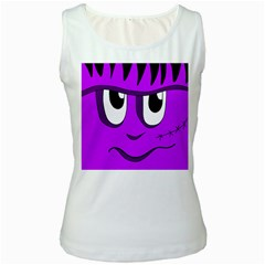 Halloween - purple Frankenstein Women s White Tank Top
