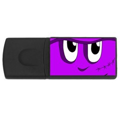 Halloween - purple Frankenstein USB Flash Drive Rectangular (1 GB)