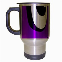 Halloween - purple Frankenstein Travel Mug (Silver Gray)