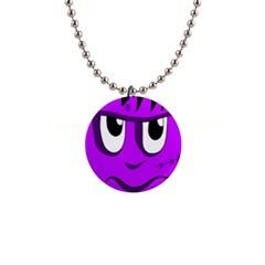 Halloween - purple Frankenstein Button Necklaces