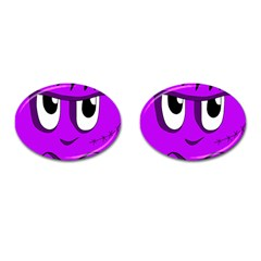 Halloween - purple Frankenstein Cufflinks (Oval)