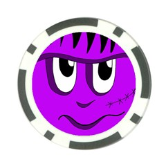 Halloween - purple Frankenstein Poker Chip Card Guards
